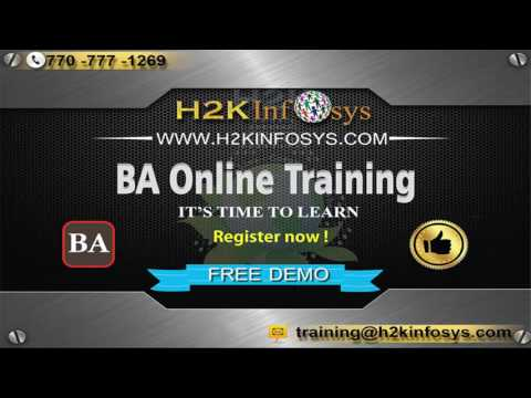 BA Online Training Free Demo Class | Business Analysis Online Training Videos