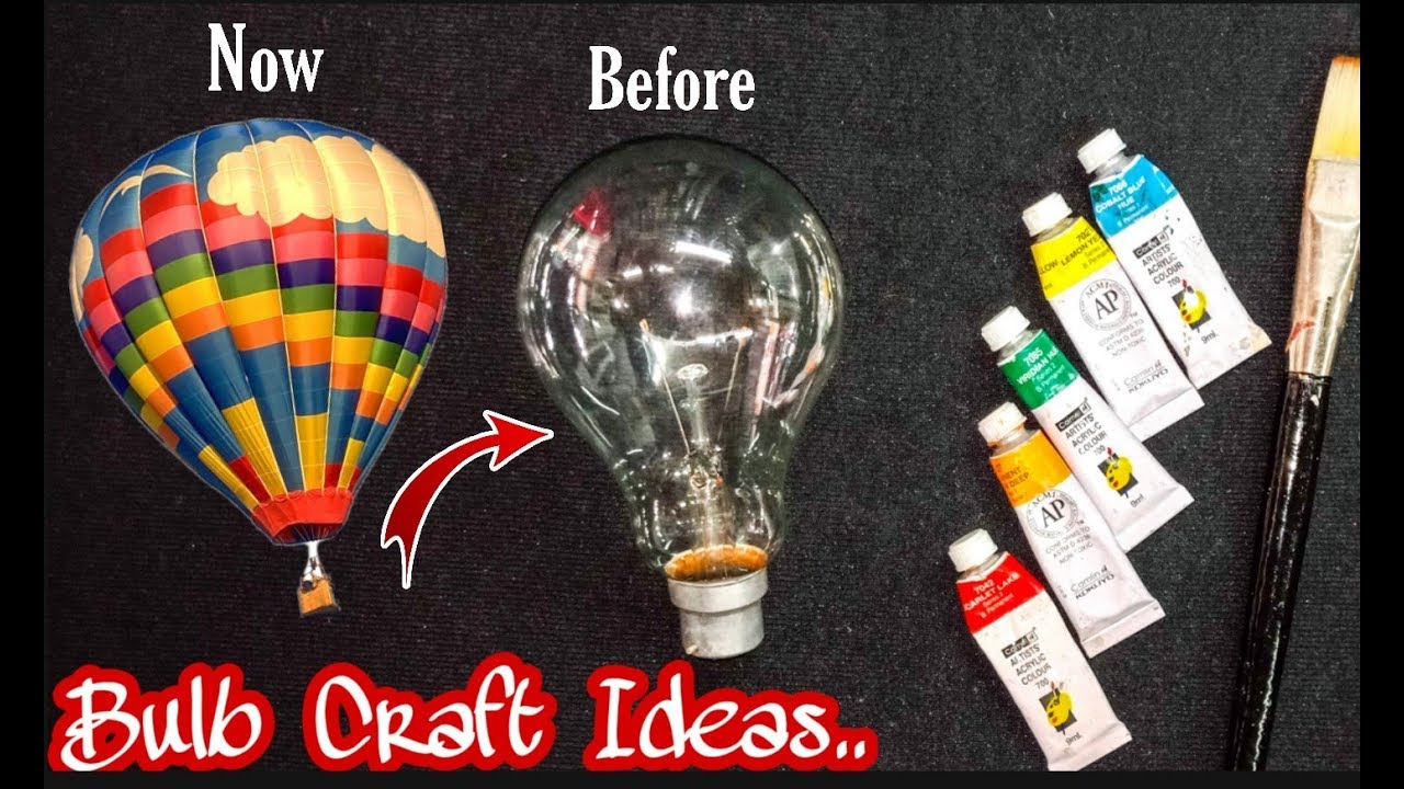 Bulb Craft Ideas Turn Into Balloon Parachute Diy Bulb Crafts
