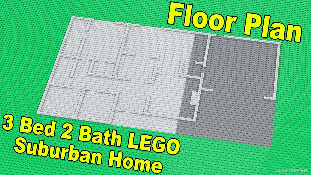 Update 3 bed 2 bath suburban lego home floor plan cc for Suburban floors