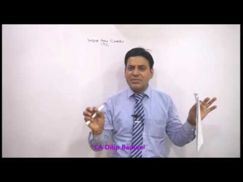 Gst Itc Lecture Input Tax Credit Goods Services Tax