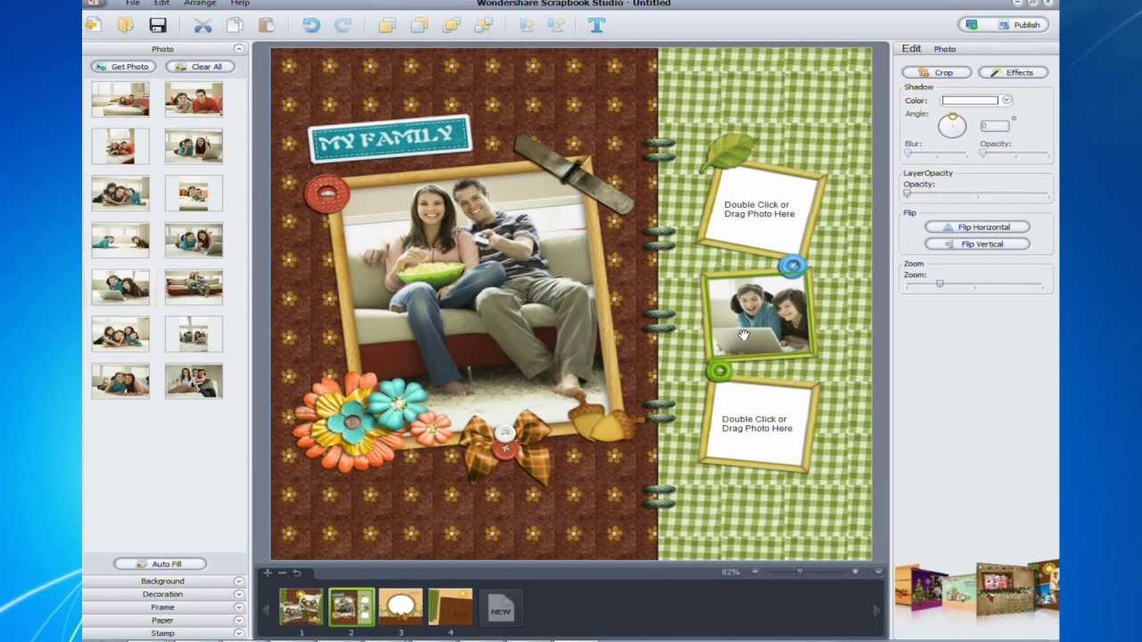 How to quickly and easily make your own scrapbook on the computer