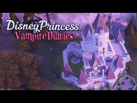 Vampire Princess CASTLE! - Ep5| Sims4  Disney Princess Vampire Diaries