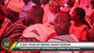 Day 1 of the 3-Day Tour of the Brong Ahafo Region