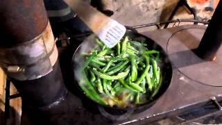печка Бубафоня-плита. Готовим вкусный ужин.