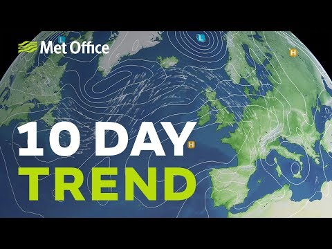10 Day Trend – Quieter Weather For September? 28/08/19