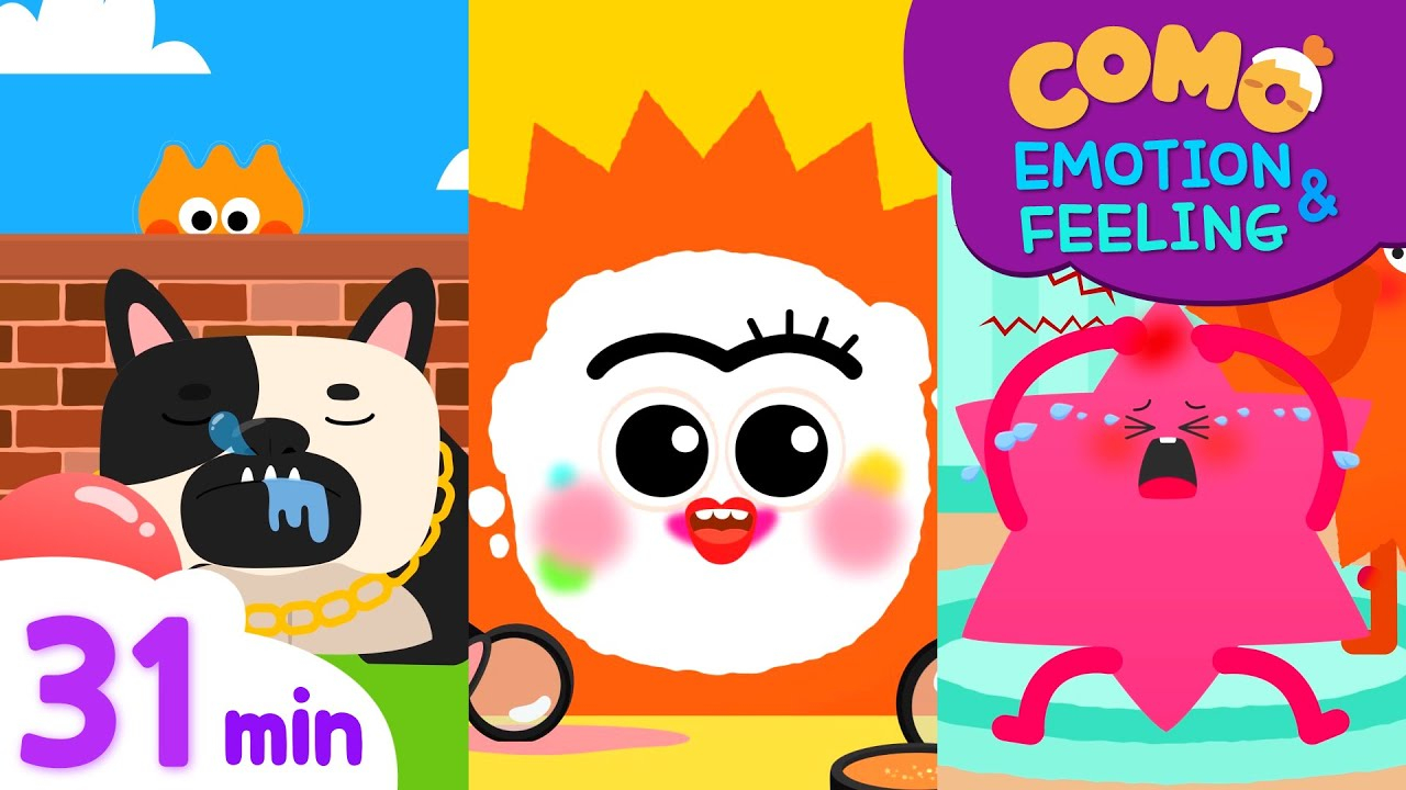 Emotion & Feeling with Como   Learn emotion 31min   Cartoon video for kids   Como Kids TV
