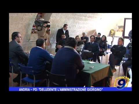 ANDRIA | PD, deludente l'amministrazione Giorgino