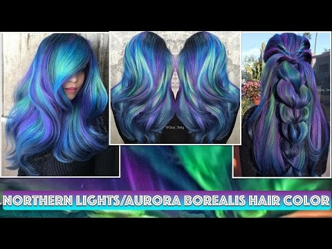 Northern Lights/Aurora Borealis Hair Color