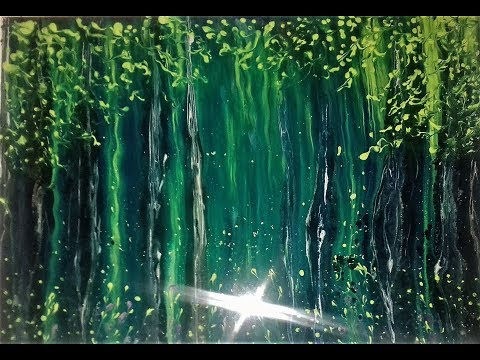 Acrylic Fluid Pouring With Intent