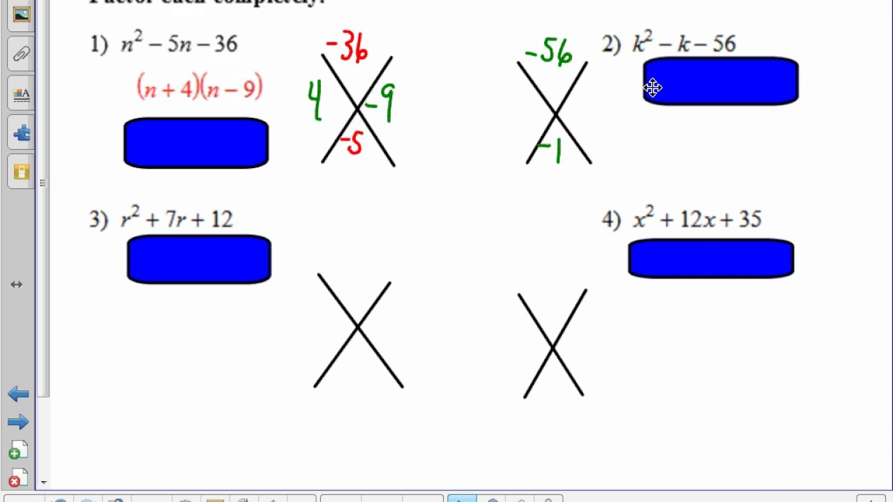 Factoring trinomials standard form youtube factoring trinomials standard form falaconquin