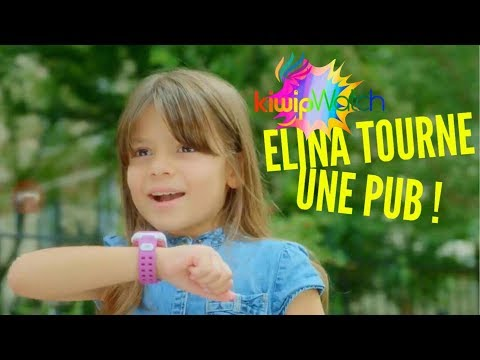 Elina tourne une nouvelle publicité, en tant qu'ambassadrice des montres KIWIP !