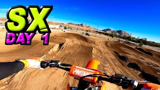 MY FIRST DAY RIĎING SUPERCROSS! - The Journey Begins...