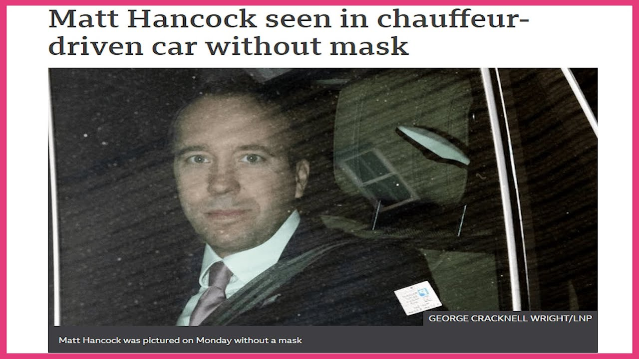 Hancock not wearing a mask in vehicle despite instructions to do so