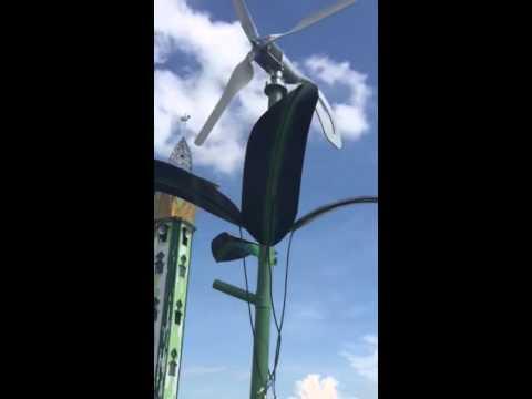 Hybrid solar Wind turbine atau Kincir angin