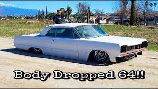 Body Dropped (layin rocker) 1964 impala project (watch in HD)
