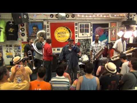 Dirty Dozen Brass Band @ Louisiana Music Factory JazzFest 2012 - PT 1