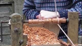 Pole Lathe Turning Spindles - Sussex Chair Part 7