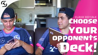 JAVI14 AND SERGIORAMOS CHOOSE EACH OTHER'S DECK | SK CLASH ROYAL
