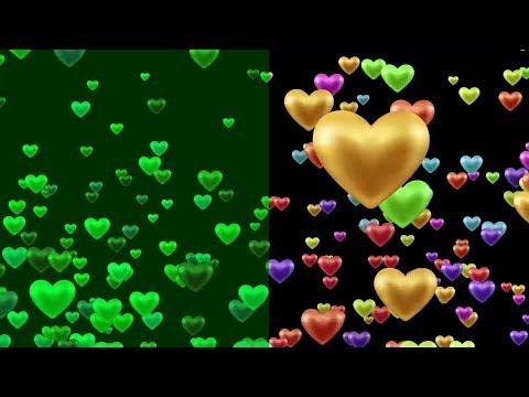 Blinking Heart Shapes Love Animation Background