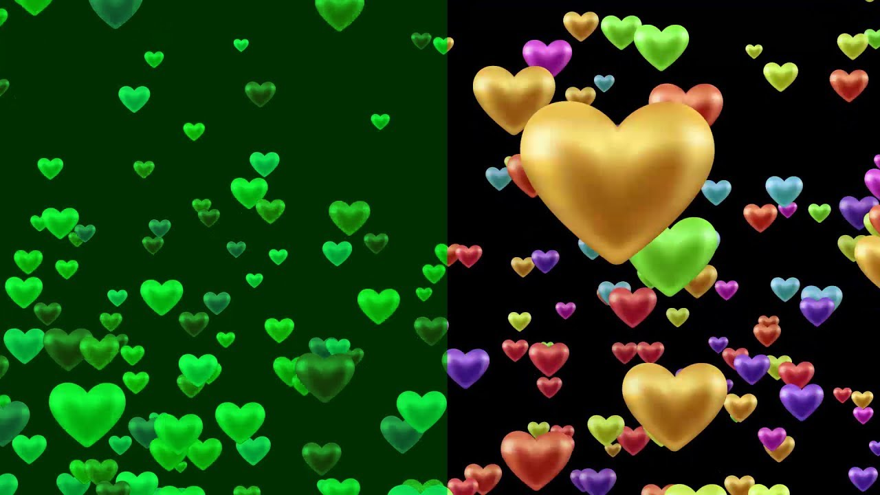Blinking Heart Shapes Love Animation Background