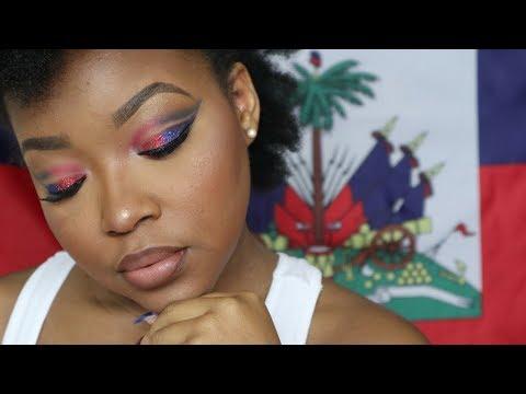 Haitian Flag Day Inspired Makeup 2018 🇭🇹| SHEISROYALTY 👑