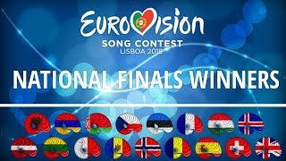 Eurovision 2018 | My winners from each natinal finals [so far]