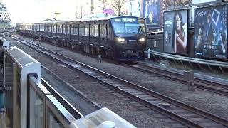 原宿駅前を通過していく相鉄JR直通線の埼京線上り相鉄12000系