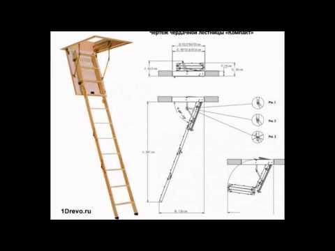 Чертежи чердачная лестница с люком своими руками чертежи