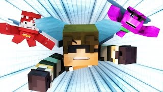 Minecraft HYPERDRIVE | FLYING X-RUN?! (Funny Moments)