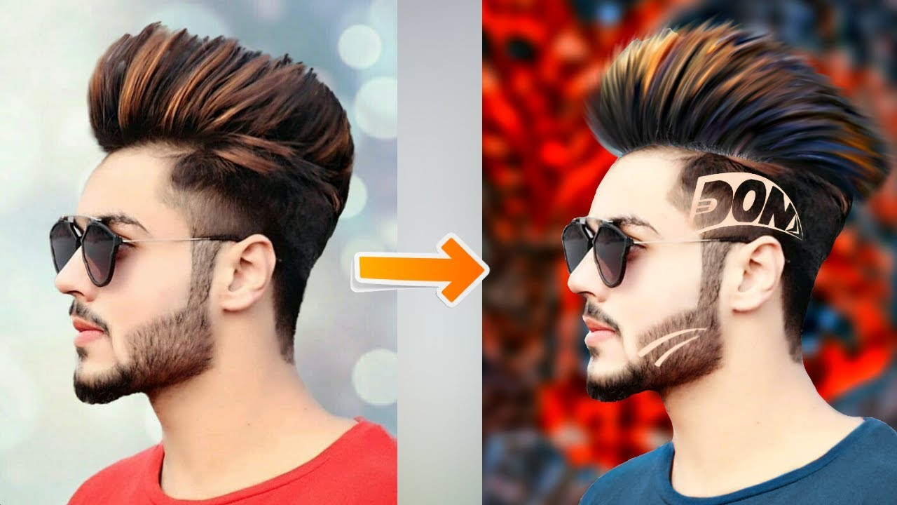 Amazing Hair Cut Photo Editing New Stylish Editing 2018 Best