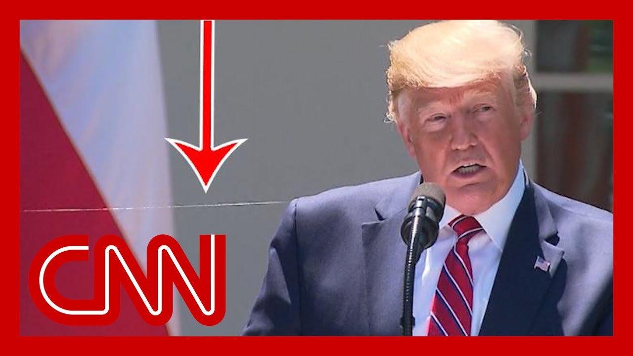 CNN:This caught the eye of social media users during Trump's press conference