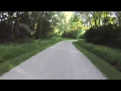 Cycling the Waterfall Glen Trail in Dupage County, IL