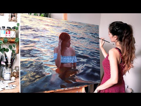 It Took Me 2 Years To Finish This Artwork   Oil Painting Time Lapse   Realistic Water Portrait