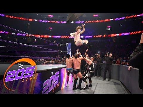 Austin Aries vs. TJ Perkins vs. Mustafa Ali vs. Gentleman Jack Gallagher: WWE 205 Live, Apr. 5, 2017