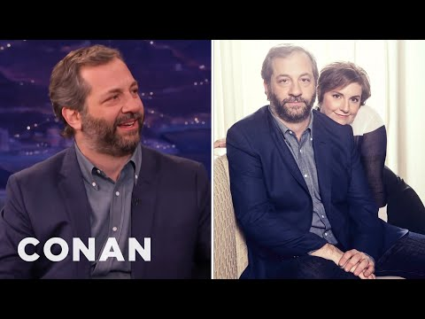 Judd Apatow's Awkward Photos With Lena Dunham  - CONAN on TBS