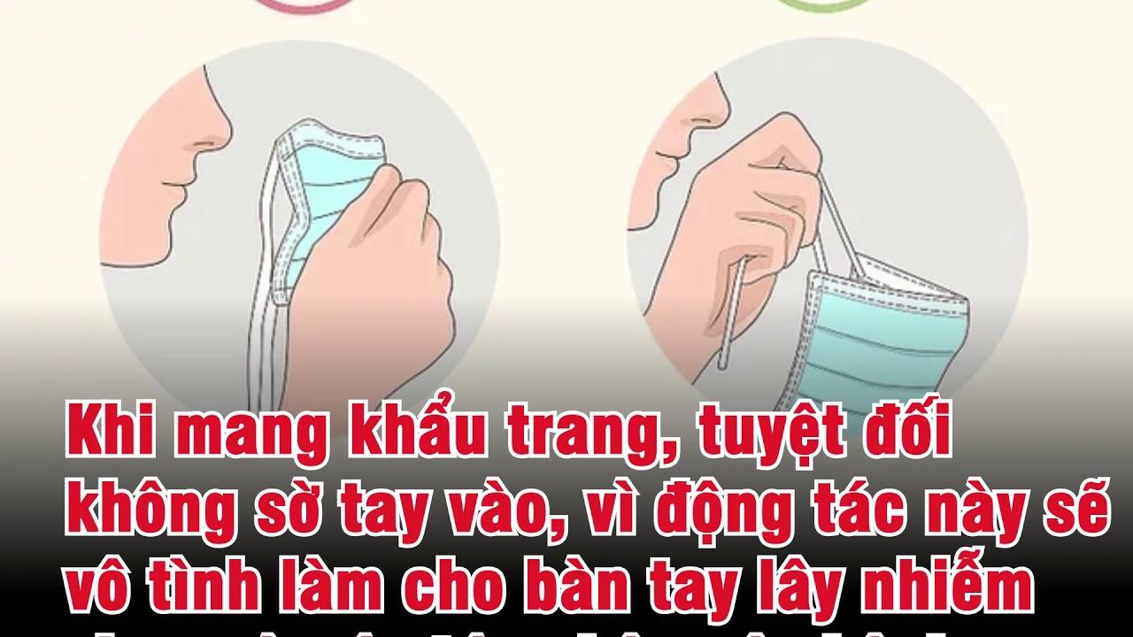 Hướng dẫn đeo khẩu trang đúng cách để phòng vi rút corona -viêm phổi Vũ Hán-