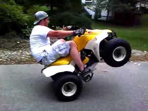 Suzuki lt 80 wheelie - YouTube