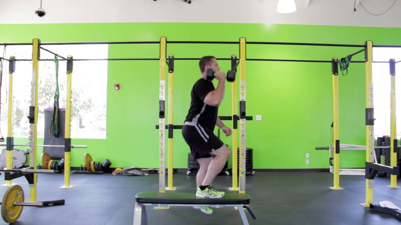 lateral stepup with overhead press youtube