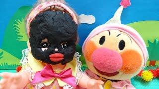 アンパンマン メルちゃん おもちゃ 着せ替えごっこ 顔パック ねんどあそび♡アンパンおねえさん♡ thumbnail