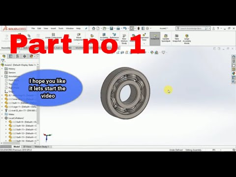 SolidWorks tutorial Design And Assembly of Ball Bearing   by Engineering software Tutorials thumbnail