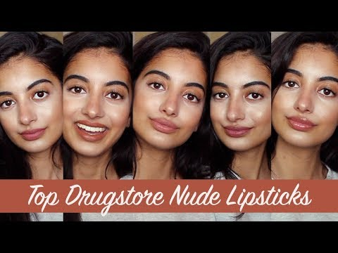 TOP DRUGSTORE NUDE LIPSTICKS for Indian/Asian/Olive Skin Tones | PART 2 thumbnail