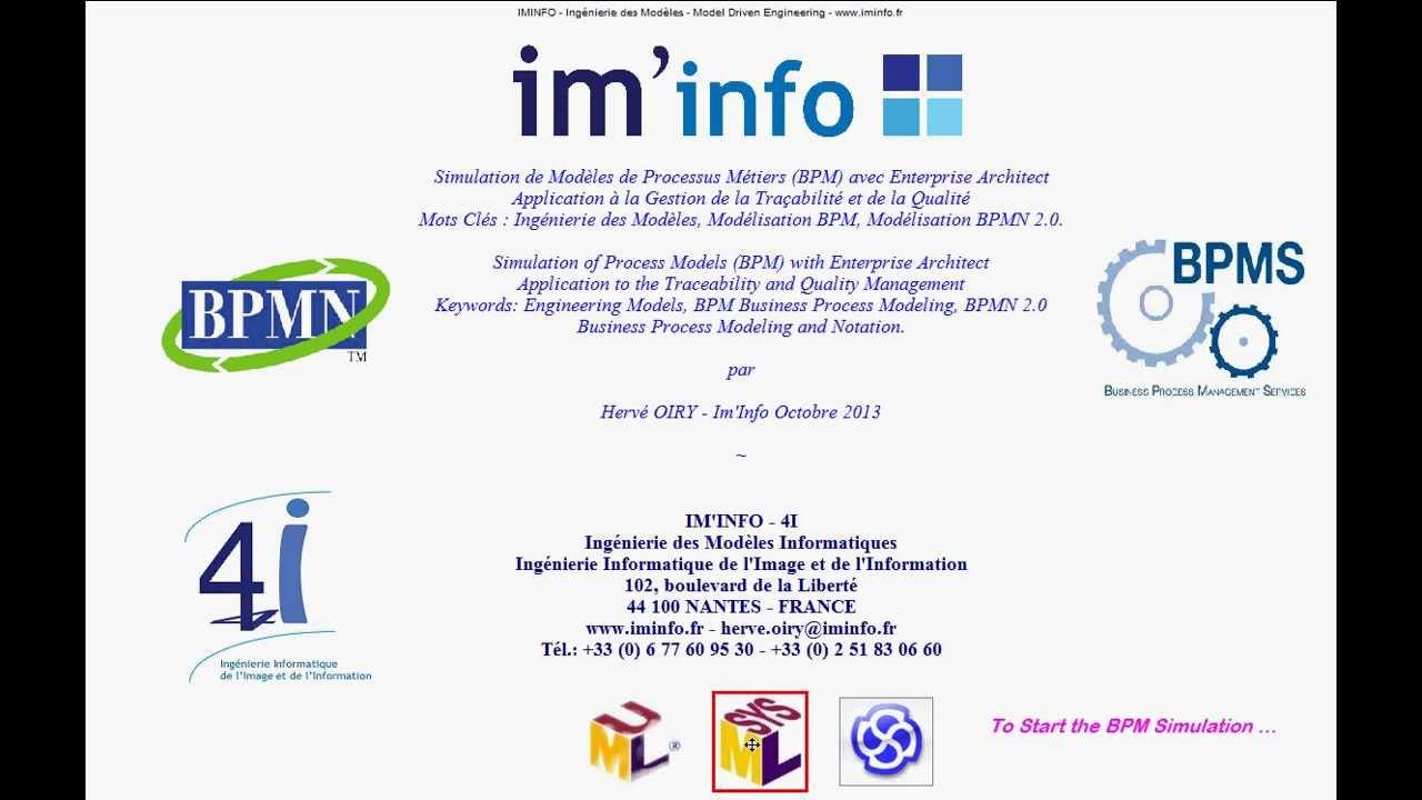 iminfo bpmn business process modeling and simulation with enterprise architect - Bpmn Simulation