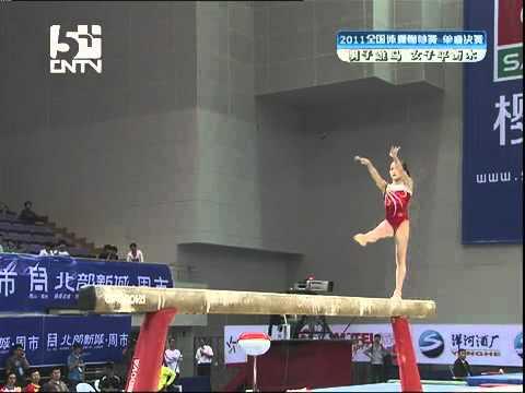 Lou Nina Beam final Chinese Gymnastics National 2011