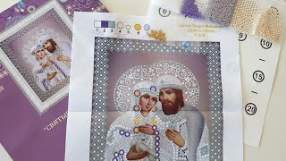 """Обзор набора """"Святые Петр и Феврония"""" (вышивка бисером и бусинами)"""