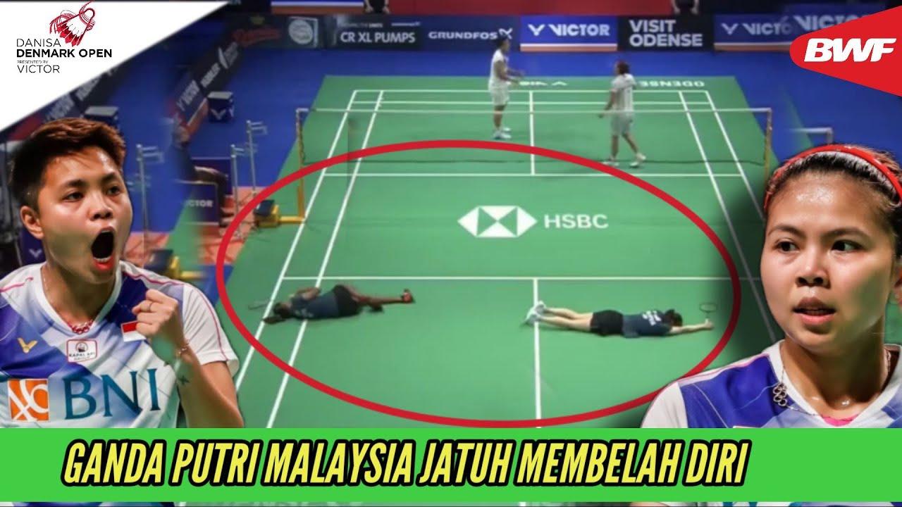 Download Sampai Jatuh Berbarengan! Kehebatan Greysia Polii/Apriyani Rahayu Buat Ganda Malaysia Tak Berdaya