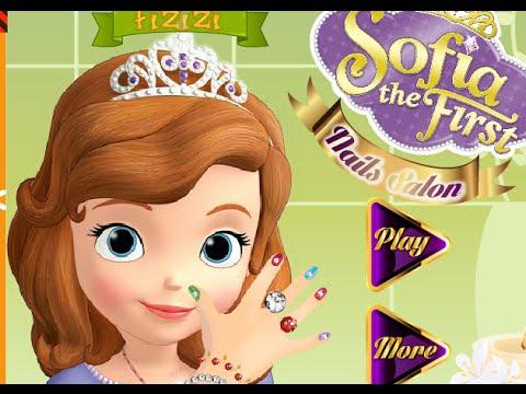 Trò chơi thiết kế móng tay cho công chúa Sofia xinh đẹp, game làm nail cho Sofia
