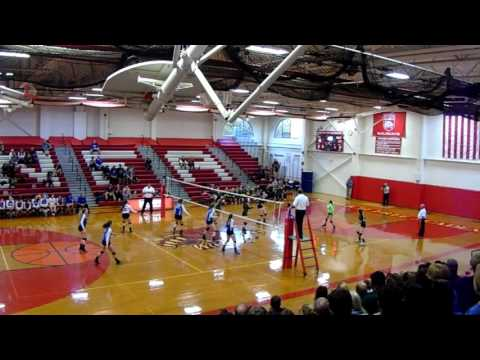 11-2-16 ECC Volleyball Lyman Memorial vs Griswold ECC win Lyman
