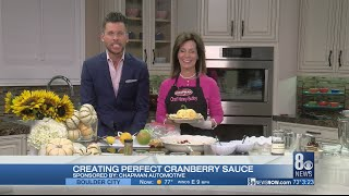 Creating perfect cranberry sauce with Chef Nanny Bubby