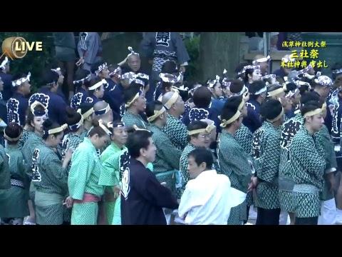 浅草神社例大祭「三社祭」本社神輿宮出し(J:COM生放送)