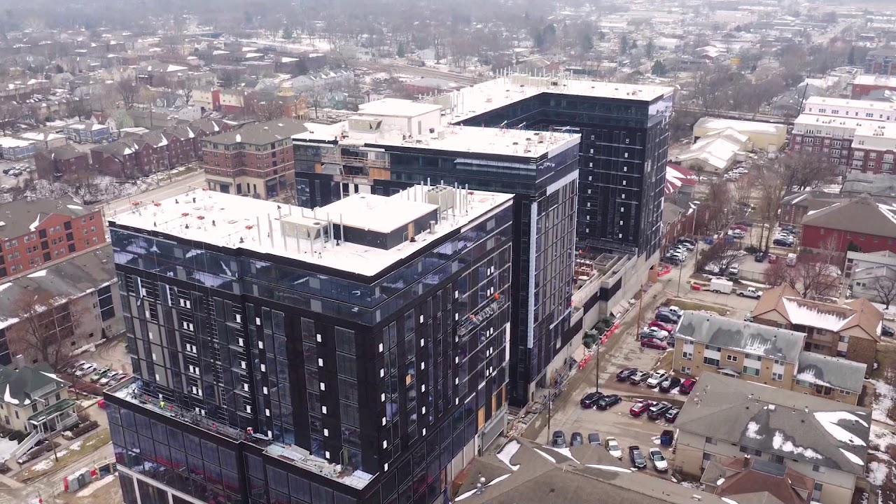 Rise At Riverfront Crossings Drone Footage
